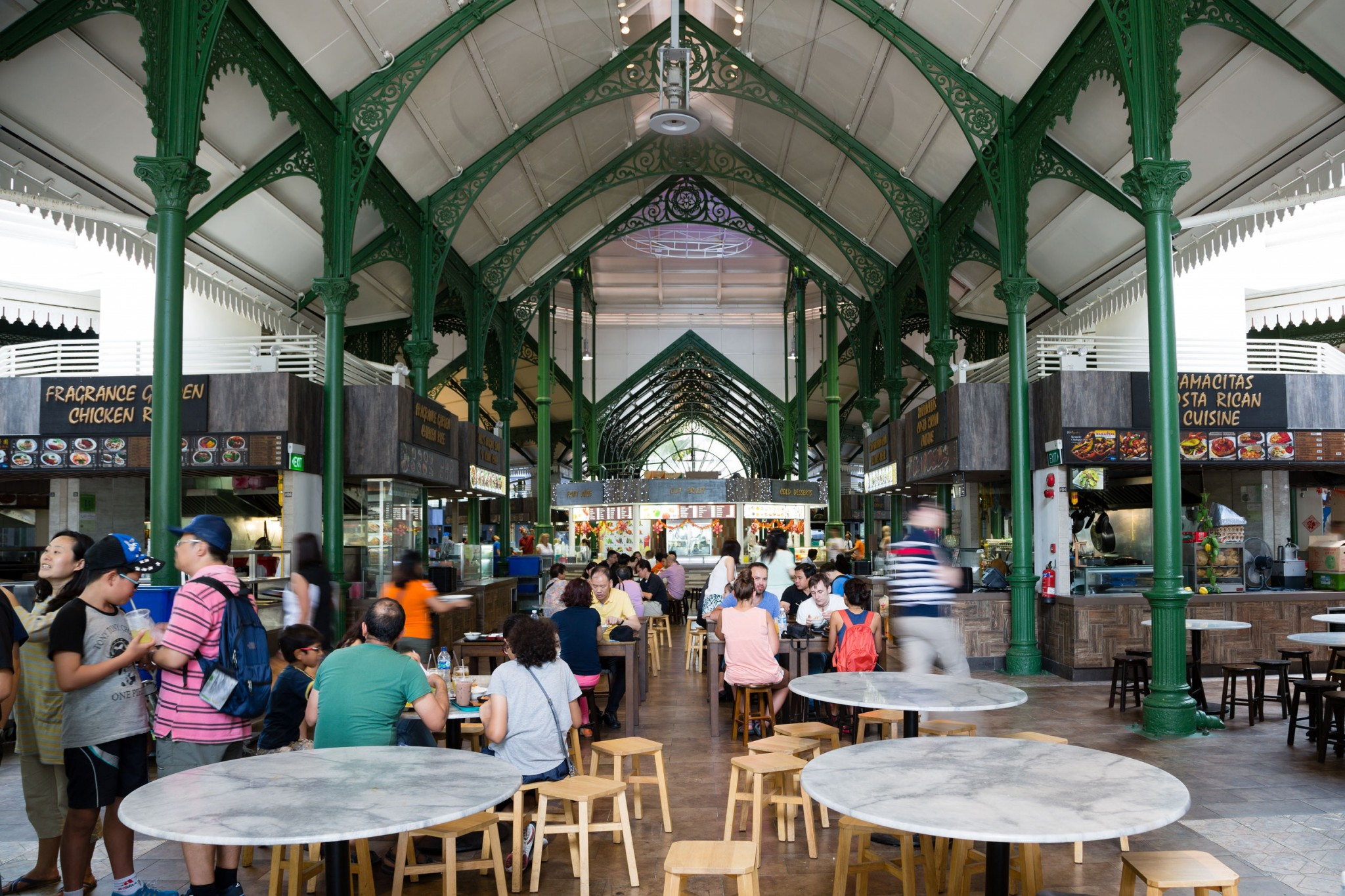 lau pa sat the popular hawker centre runners like to go after a run at garden by the bay