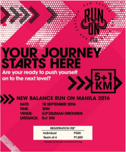 New Balance Run On Manila 2016