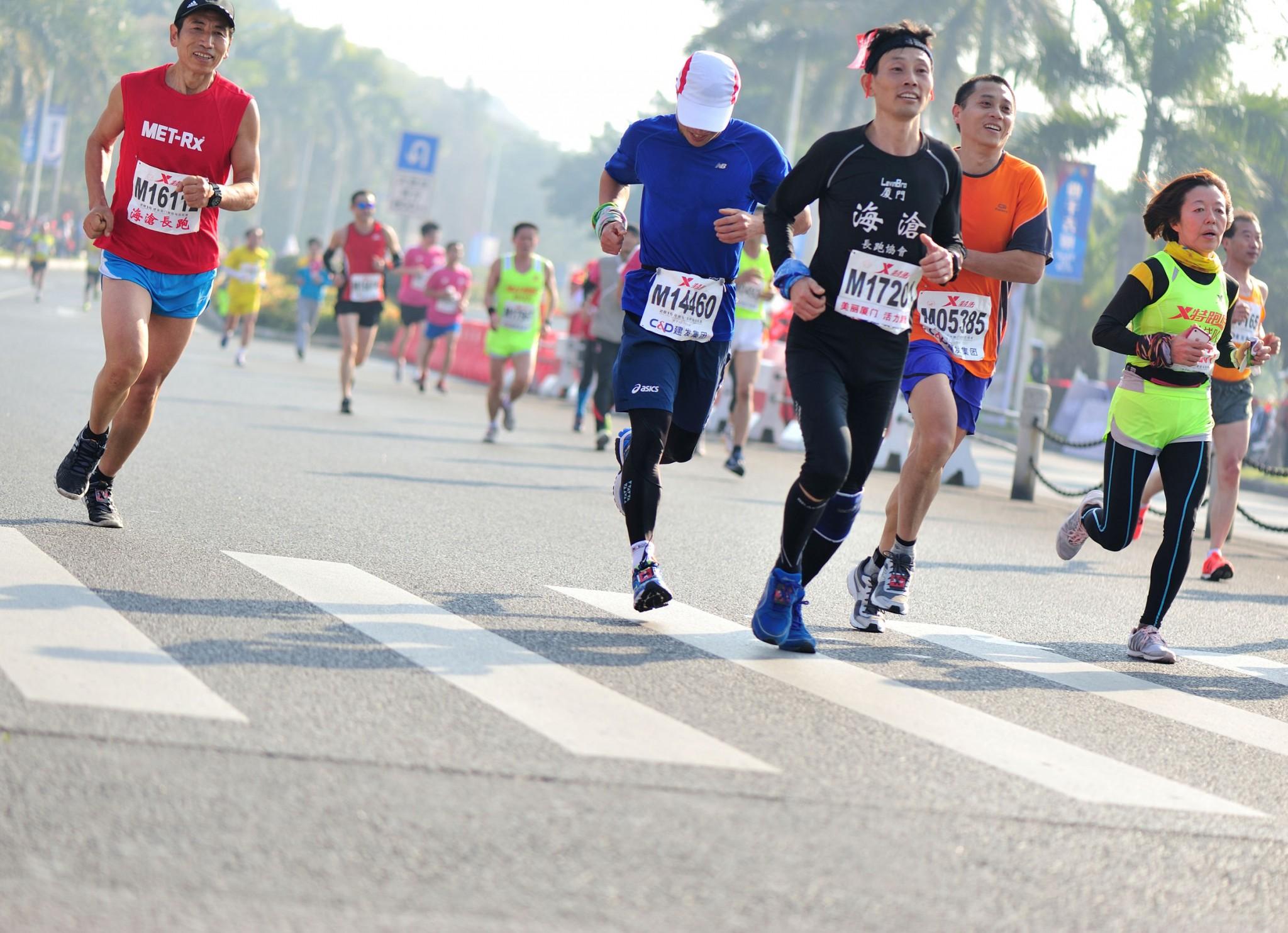 runners xiamen marathon