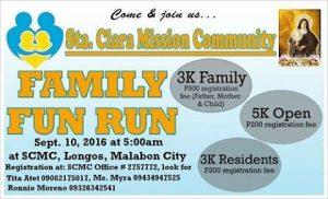Sta. Clara Mission Community Fun Run 2016