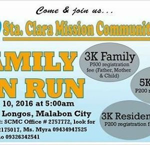 Sta. Clara Mission Community Fun Run 2016