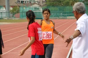 The author passes the baton to her team mate.