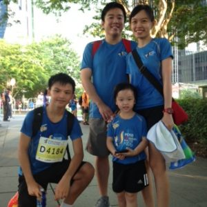 Looking forward to the 3.5kkm Family Walk: Javier, Janize, Wei Xuan & Kenneth