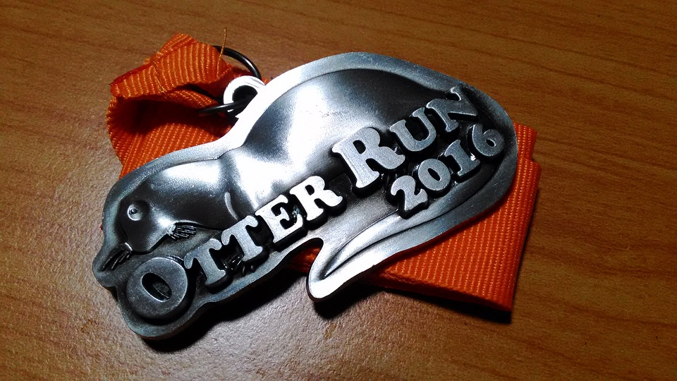 The adorable Finisher's medal.