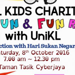 HKL KIDS Charity Fun Run and Fun Ride with UniKL 2016