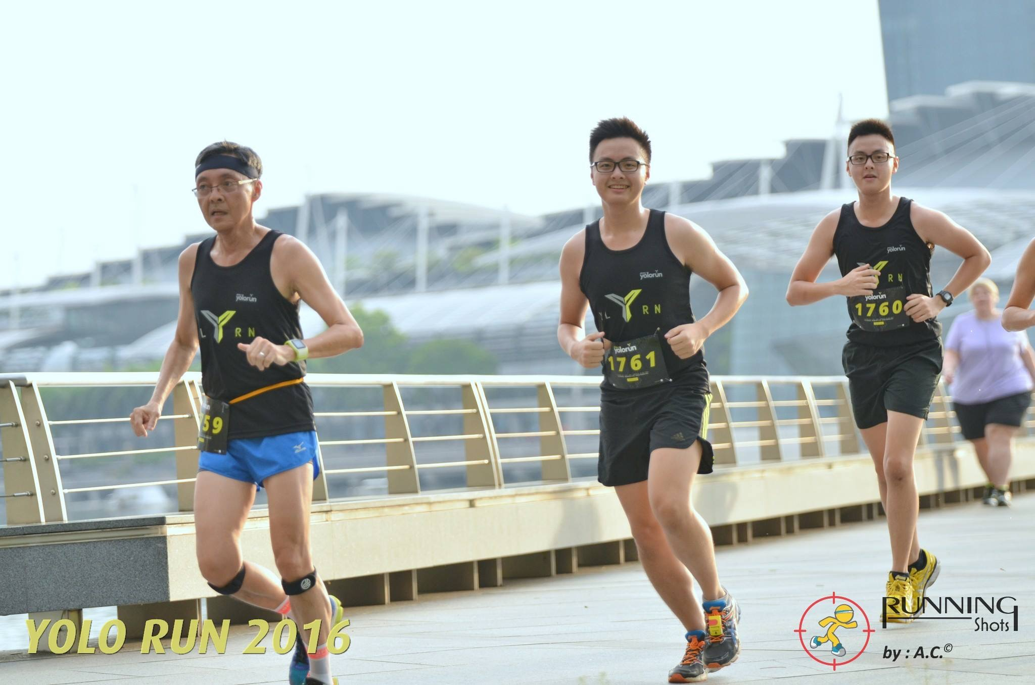 Leading my boys around the 5km mark