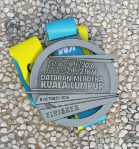 Finisher medal. Nicely made and well earned.