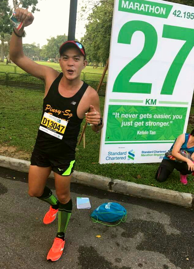 Whoa! Still looking great at the 27 km though I feel I am going to collapse anytime soon! Photo Credit: SY Snowy