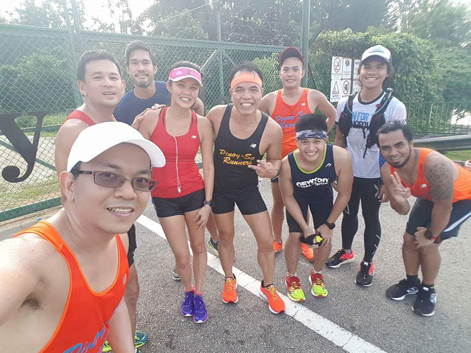 LSD Training. Met the elite Jenny Huang at the Coney Island during one the of the LSD weekends. Photo Credit: Pinoy-Sg Runners