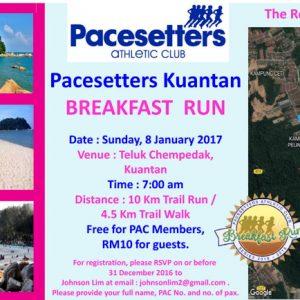 Pacesetters Kuantan Breakfast Run 2017