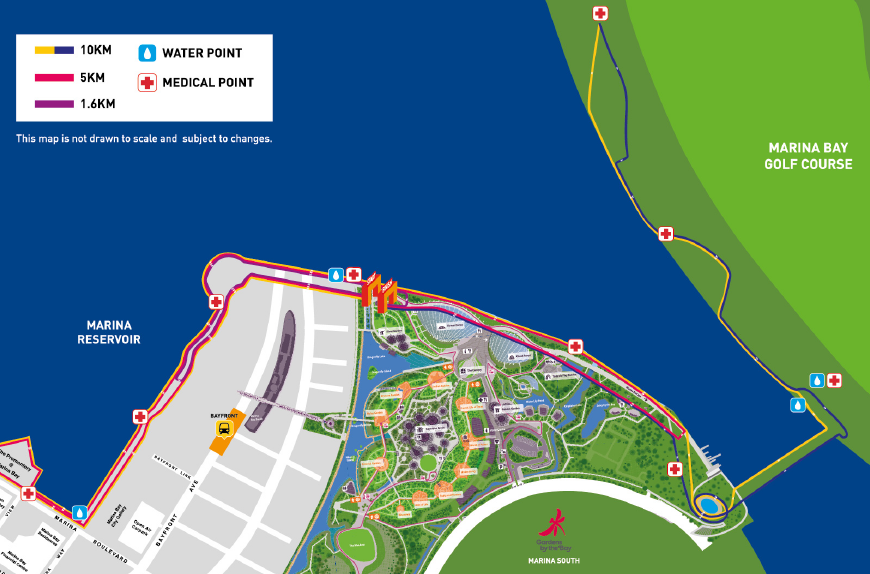 The 10km race route. Credit to Race Against Hunger's Race Guide.