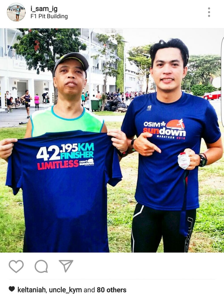 With my other kuya Noel who is still running in his 50s. I remember he finished earlier than me by a few minutes.