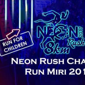 Neon Rush Charity Run Miri 2017