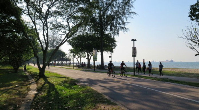 Easy run at Area B, East Coast Park. Enjoying so much the breeze, 15 Aug 2015 by Andre Tobing