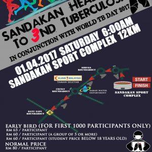 Sandakan Health Run to 3nd Tuberculosis 2017