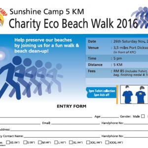 Rotary Charity Eco Beach Walk 2016