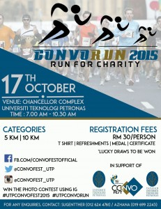 UTP CONVORUN 2015 – Run for charity