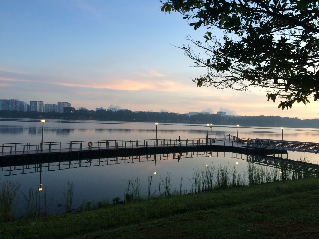 Early morning @ Bedok Reservoir, by Ranjith (Feb 2015)