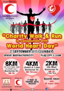 """Charity Walk & Run"" for World Heart Day 2015"