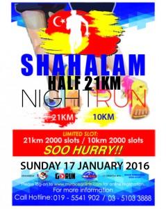 Shah Alam Half 21KM Night Run 2016