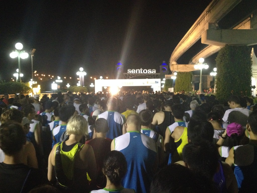 Moments prior flag-off. SCSM Half-Marathon starting pen.