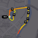 No Frills Run 2014 running map.