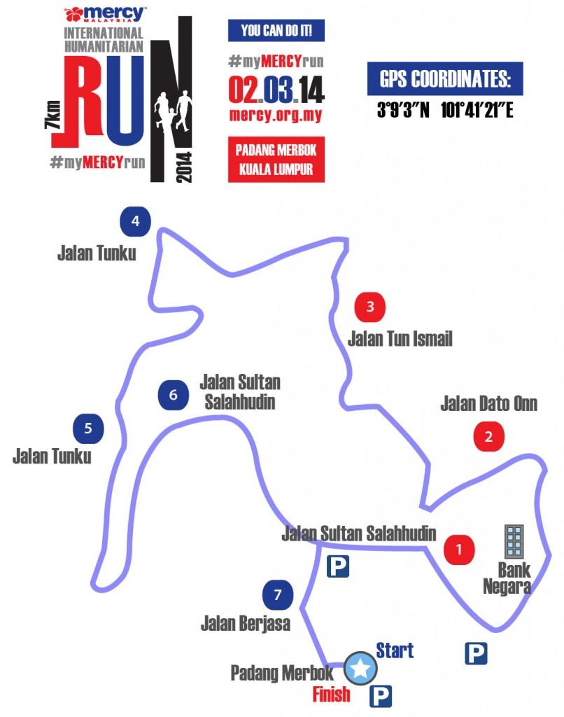 MERCY Malaysia International Humanitarian Run 2014 map