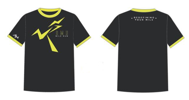 SMU Mile Run 2014 event t-shirt by AM.