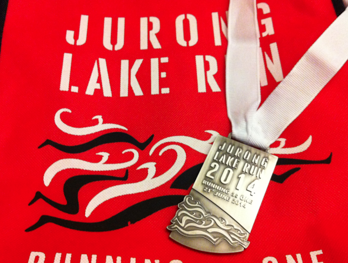 jurong lake run 2014 medal photo
