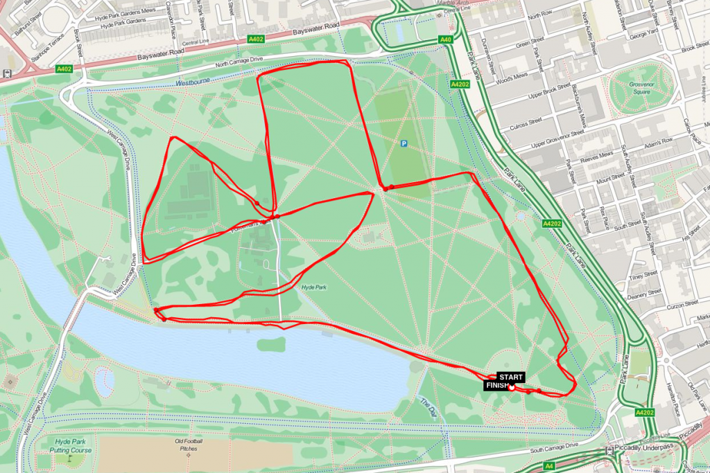 osteoroporosis run 2014 london route map