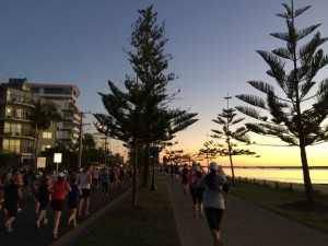 Beautiful Sunrise at the Gold Coast Airport Marathon in July 2014