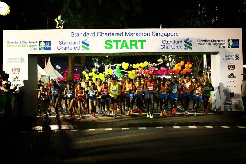 The Elites were first to be flagged off at 5:01AM !