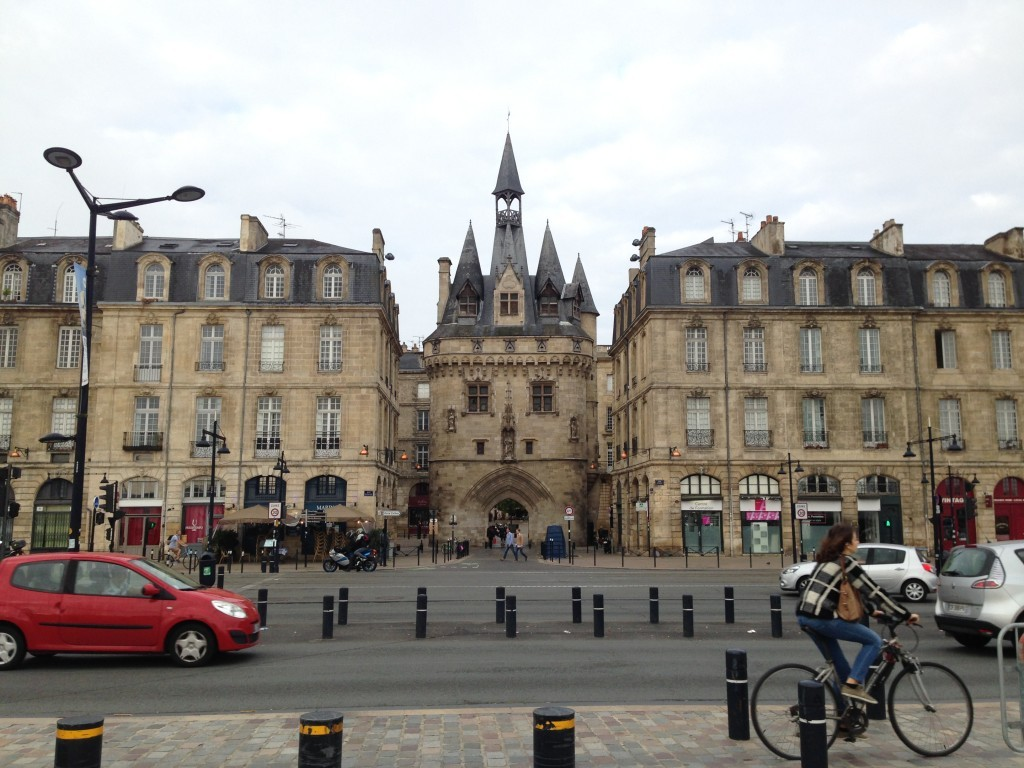 Enjoy Bordeaux's 18th century architectural. Porte Cailhau in the middle building