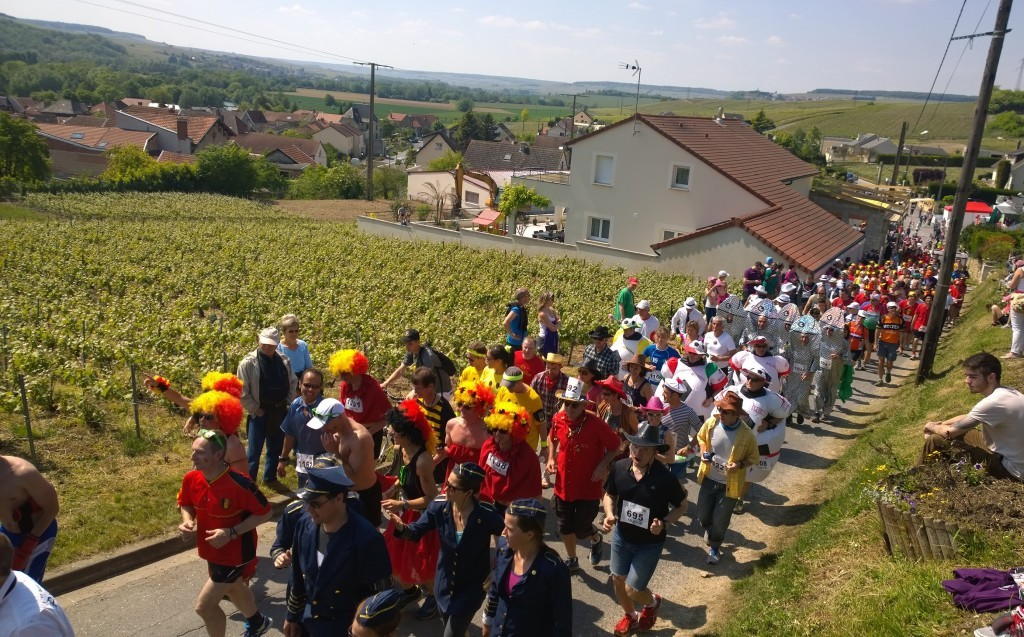 Are you prepared to start your race with a steep incline like these guys at the Champenoise de la Marne? Photo credit: Guillaume Perignon
