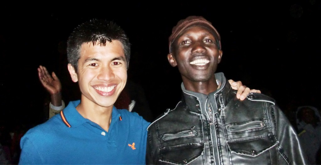 Ashley Liew with Wilson Kipsang