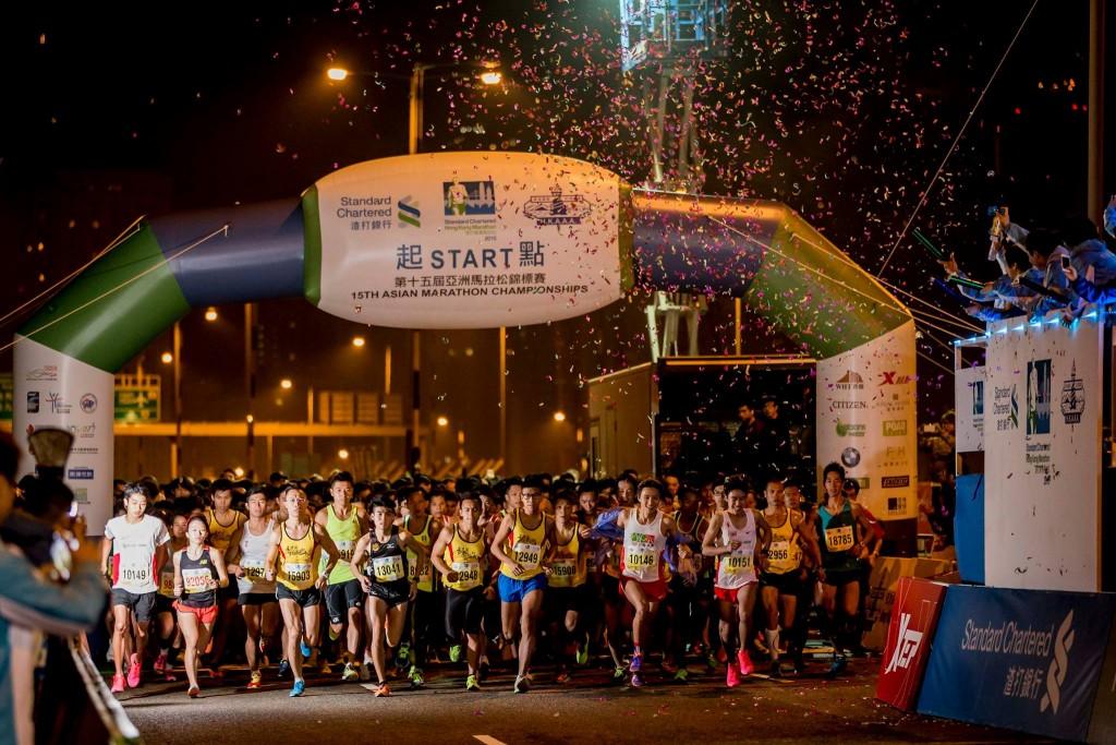 hk marathon start 2015