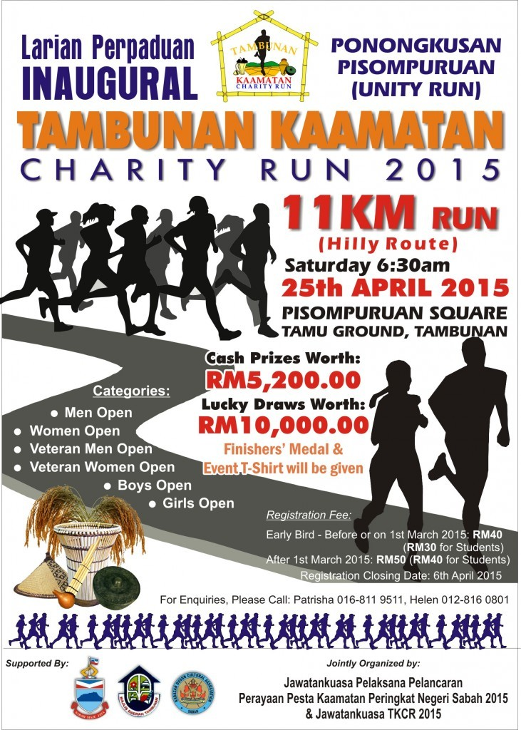Tambunan Kaamatan Charity Run 2015
