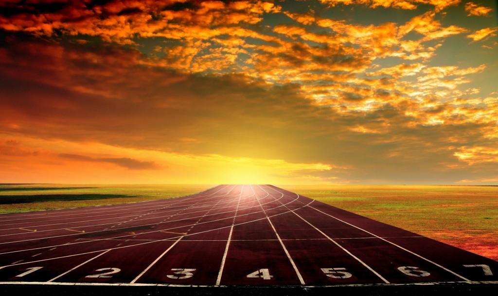 track sunset