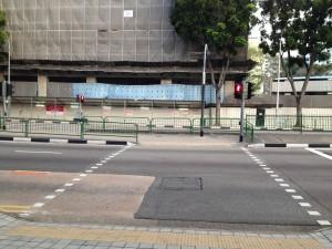 The 2 leg pedestrian crossing at Kallang Road