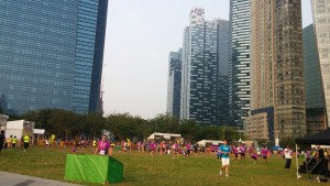 Post run activity area