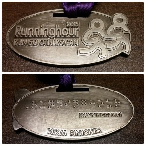 RunningHour2015 Unique Medal