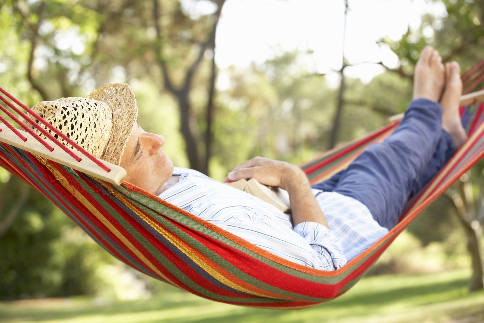 Man sleeping on hammock