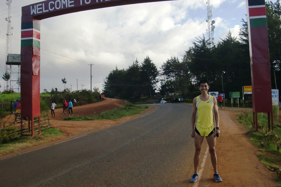 Ashley at Iten, home of champions.