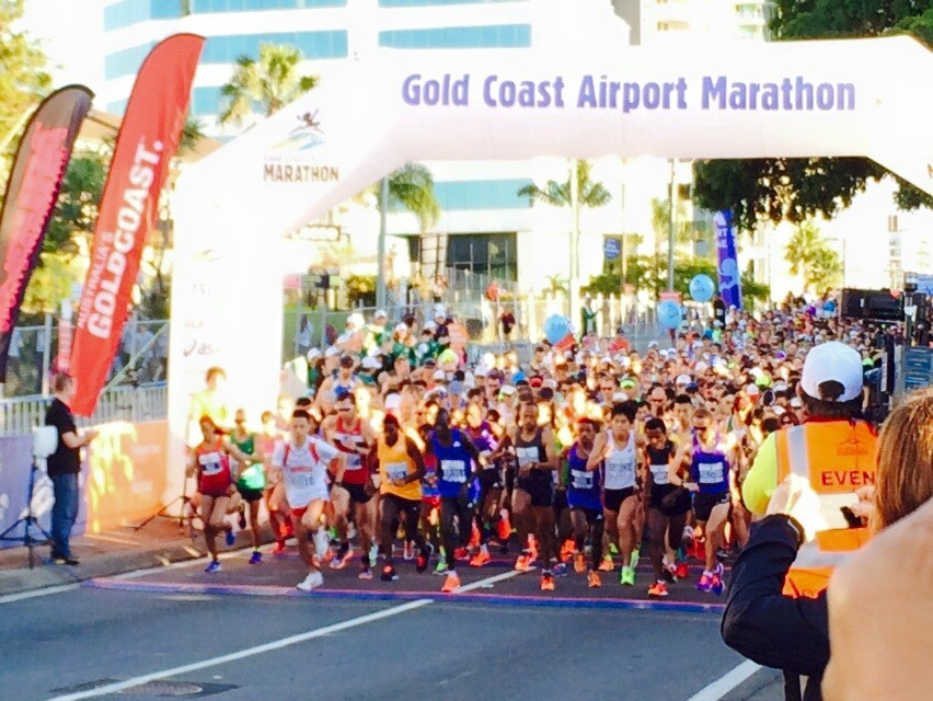 gold coast marathon flag off