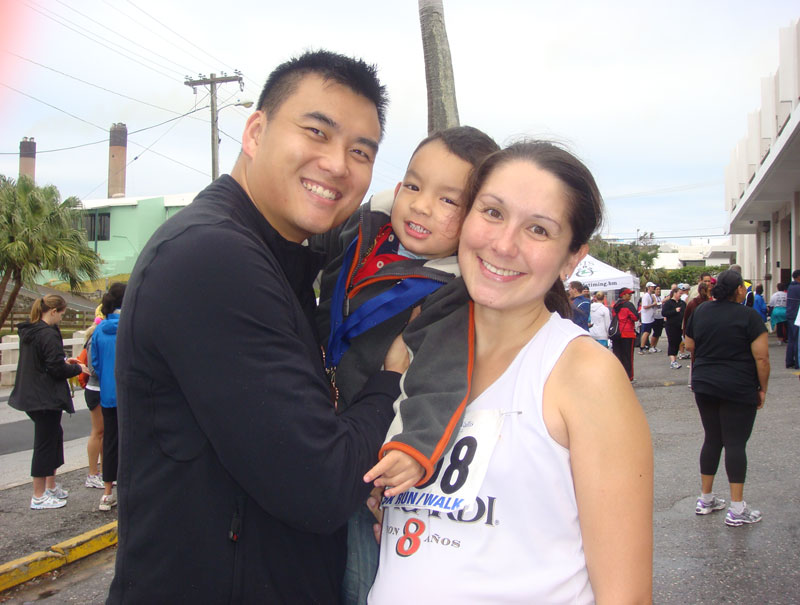 (6/2/2011) 5km running event in Bermuda at 37.5 wks pregnant with baby #2. Five days before giving birth to Kaia
