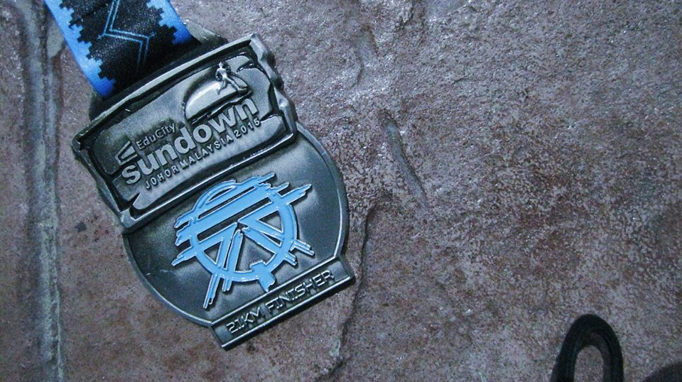 My finisher medal