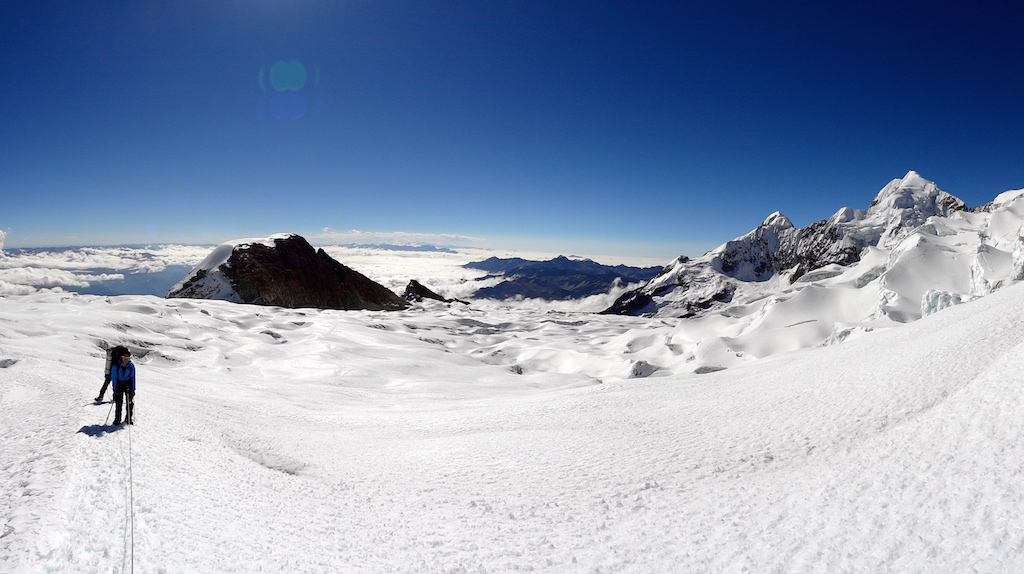 Mount Anchohuma (6427m) in Bolivia - Reached 5600m (2012)