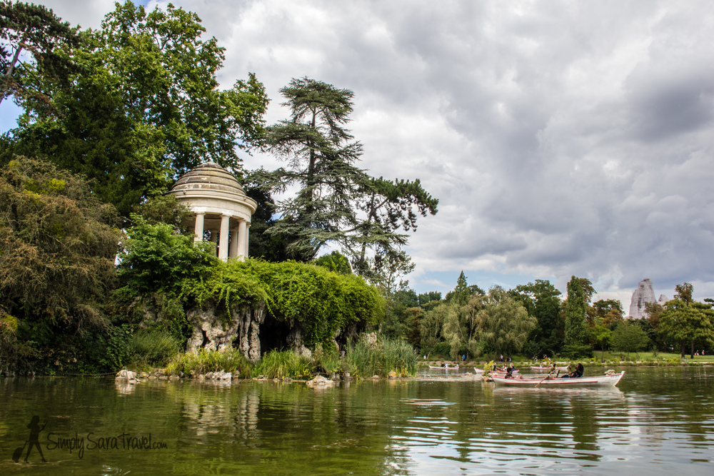 Along the race route: Lac Daumesnil, Bois de Vincennes