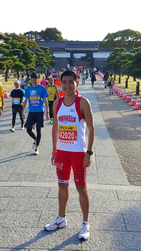 """Zhiyong: """"Appreciating the race, taking in the awesome atmosphere and enjoying the experience were my objectives today. I'm happy with a good timing at the end."""""""