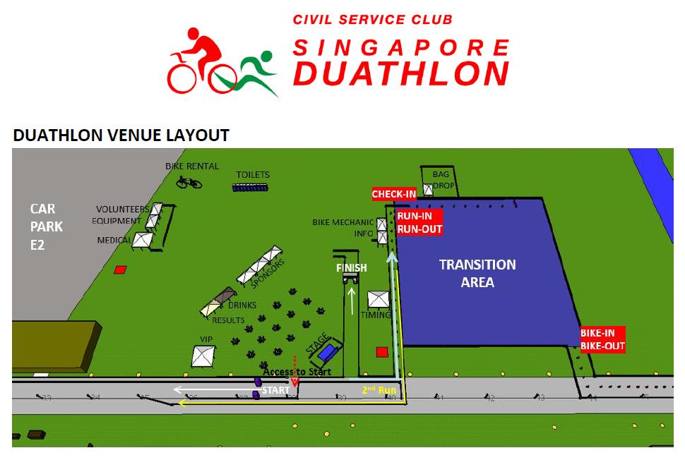 The Race Venue. Credit to Singapore Duathlon's E-Briefing materials.